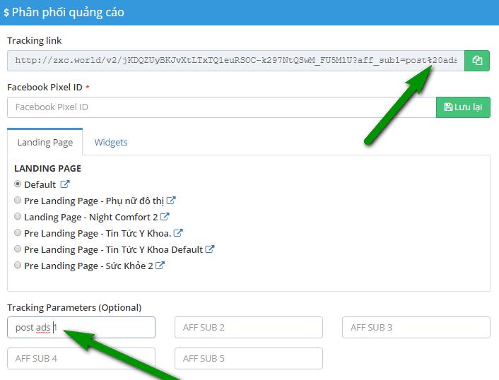 ad sub tracking